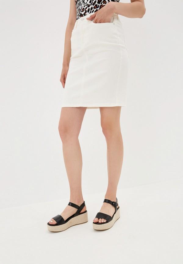 женская джинсовые юбка vila, белая