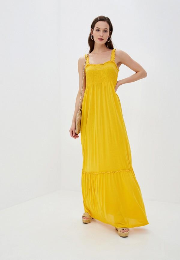 женский сарафан vila, желтый