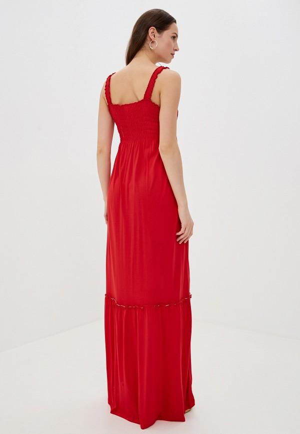 Фото 3 - Платье Vila красного цвета