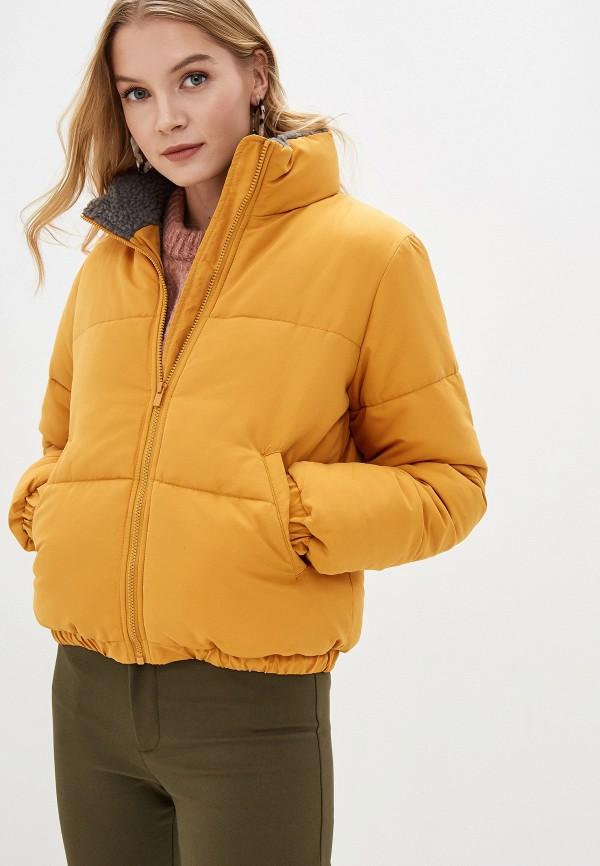 женская куртка vila, желтая