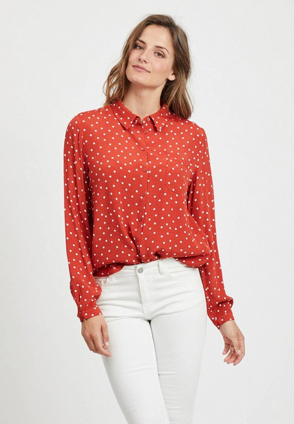 женская блузка vila, красная