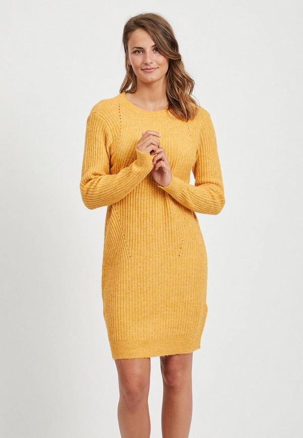 женское платье vila, желтое