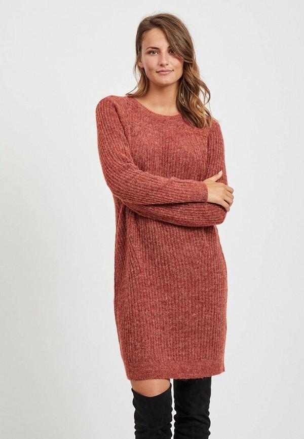 женское платье vila, красное