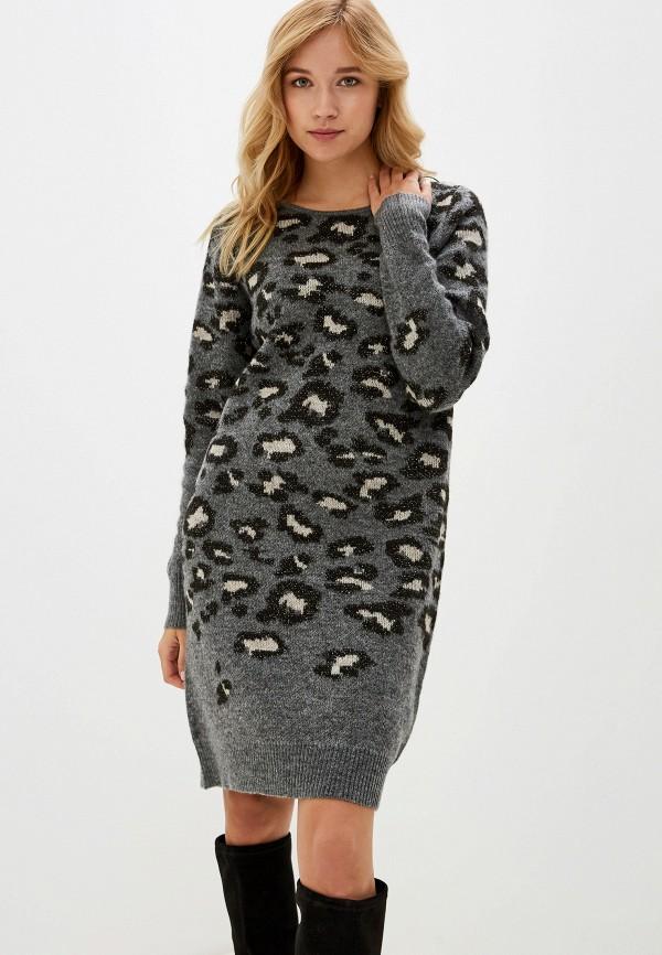 женское повседневные платье vila, серое
