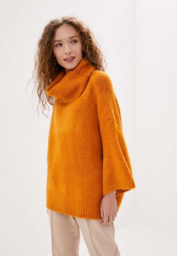 женский свитер vila, коричневый
