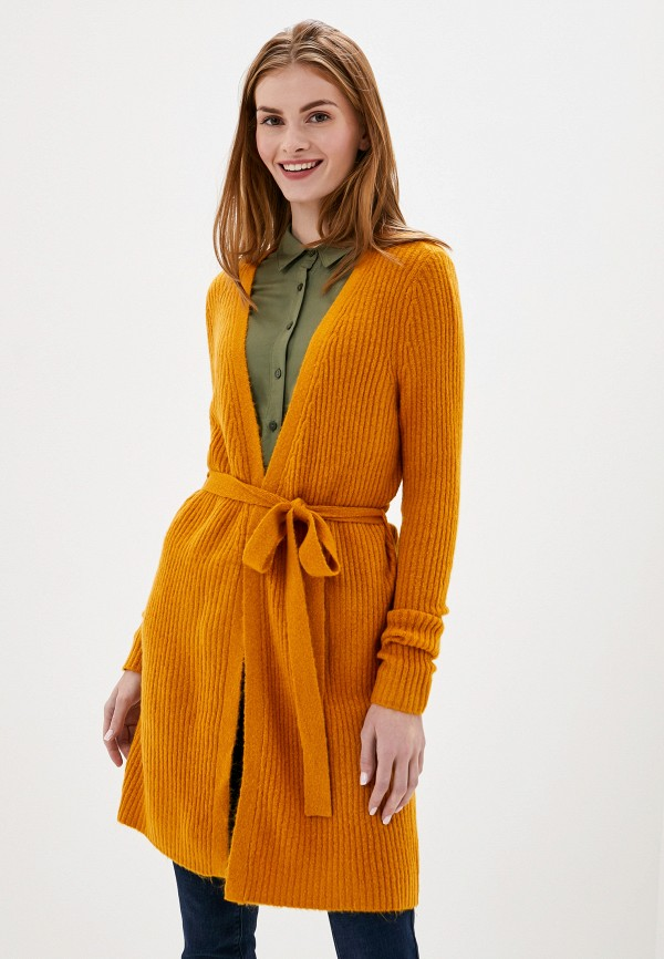 женский кардиган vila, оранжевый