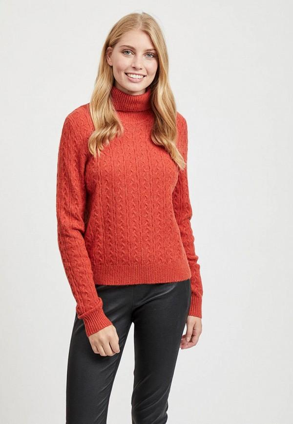 женский свитер vila, красный