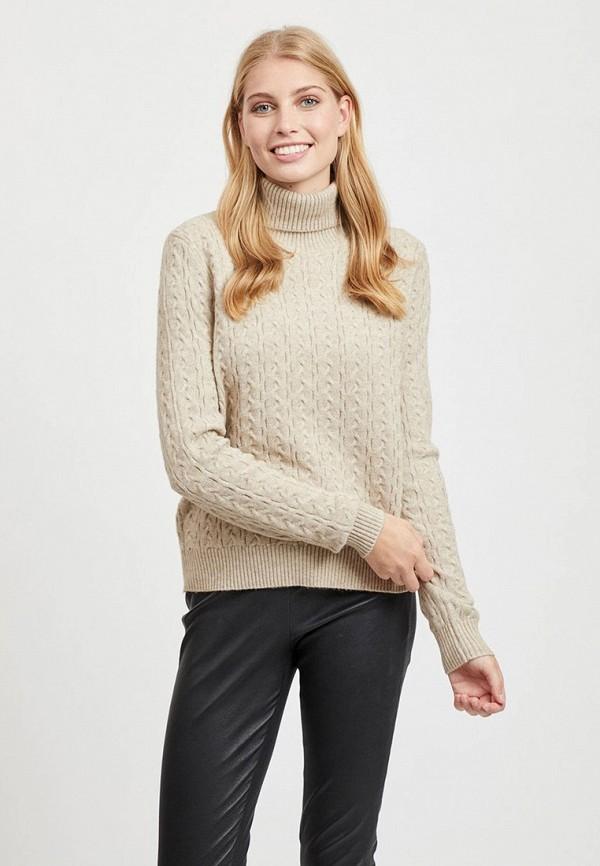 женский свитер vila, бежевый