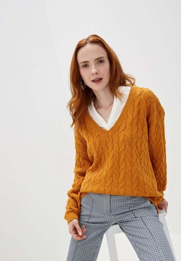 Фото - женский пуловер Vila желтого цвета