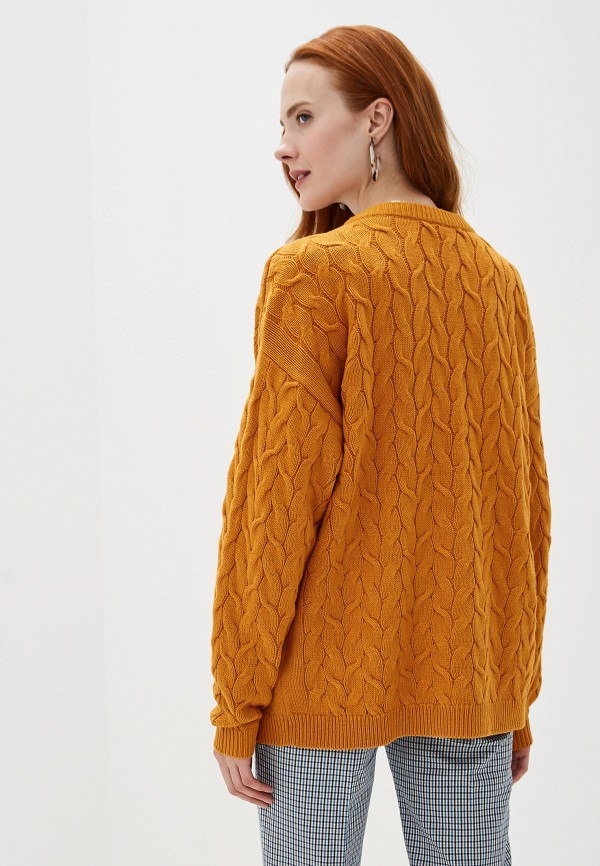 Фото 3 - женский пуловер Vila желтого цвета
