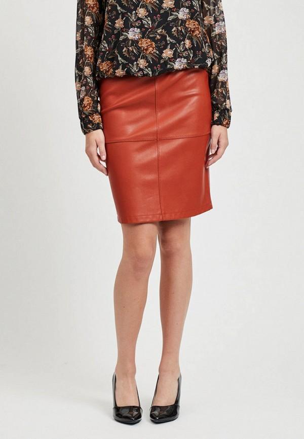 женская юбка vila, красная