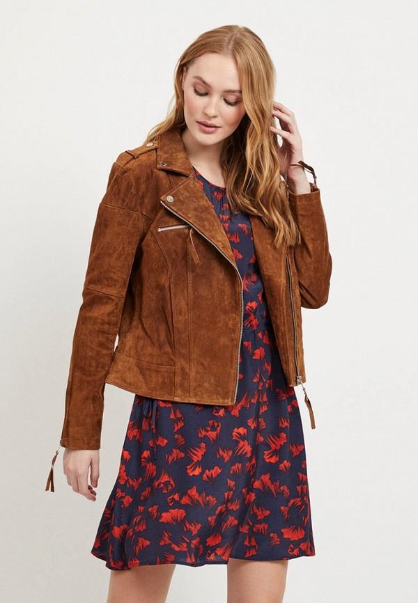 женская куртка vila, коричневая