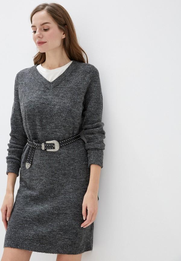 женское платье vila, серое
