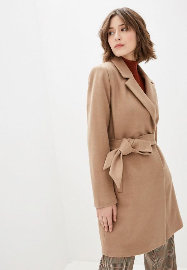 женское пальто vila, бежевое