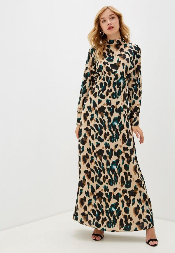 женское повседневные платье vila, бежевое