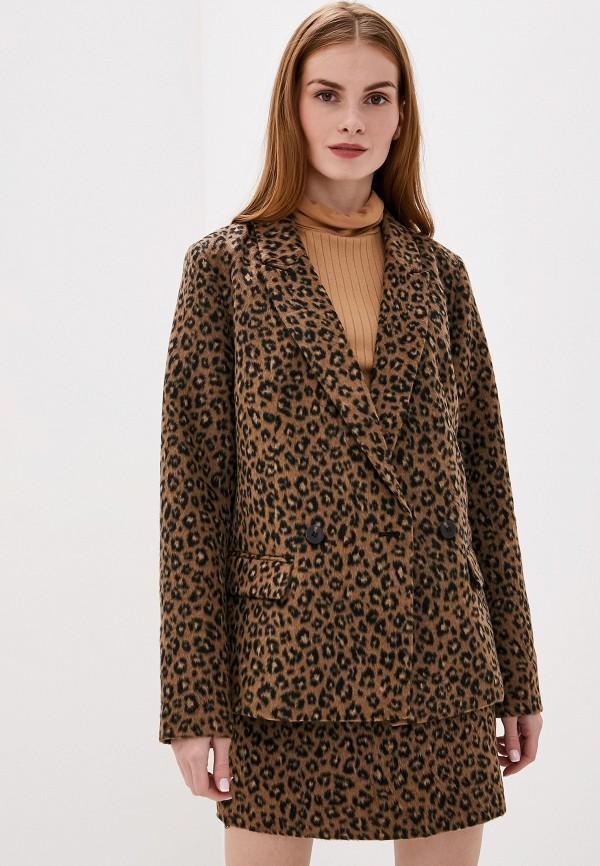 женский пиджак vila, коричневый