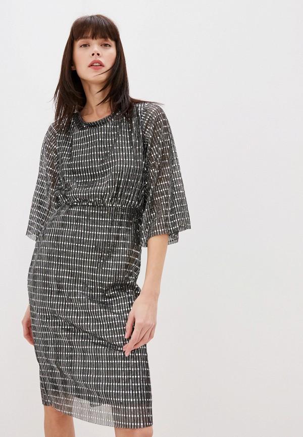 женское вечерние платье vila, серебряное