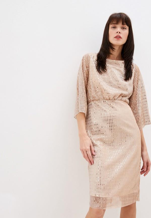 женское вечерние платье vila, золотое