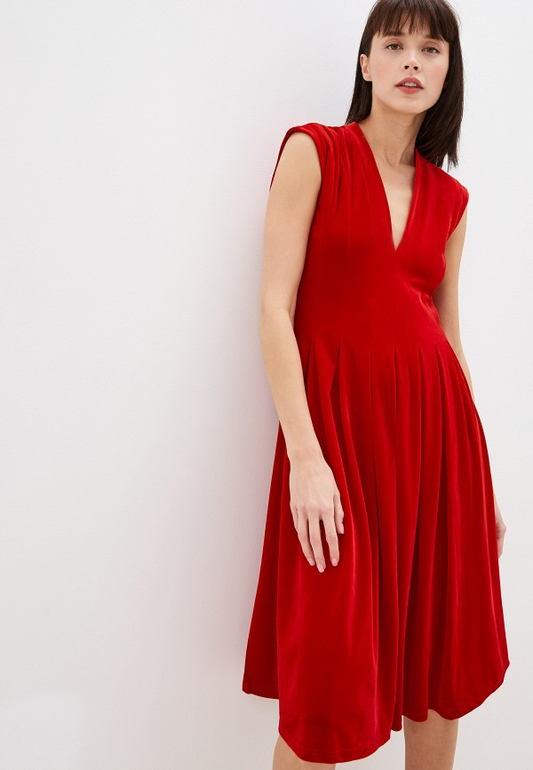 женское вечерние платье vila, красное