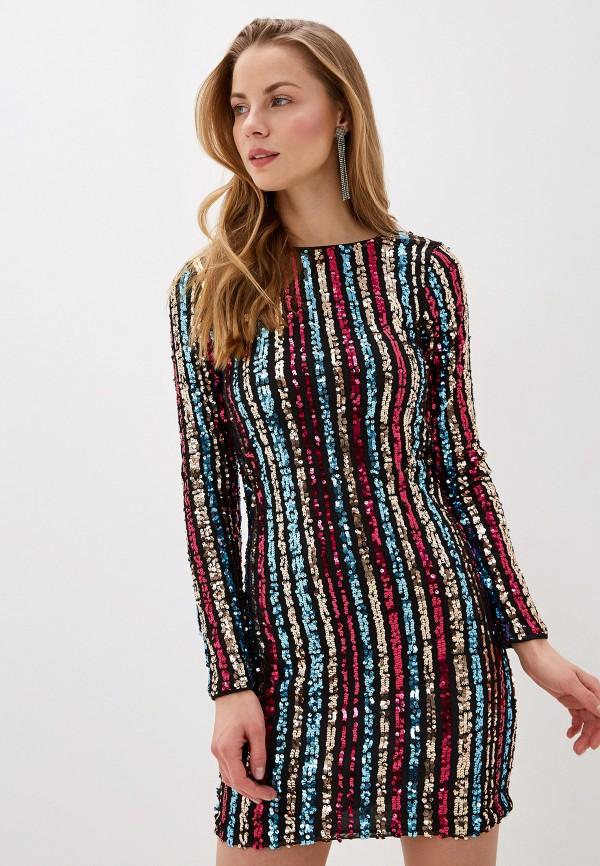 женское вечерние платье vila, разноцветное