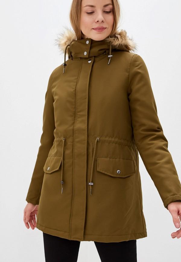 женская куртка vila, хаки