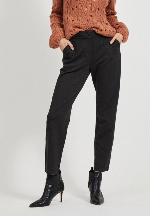 женские повседневные брюки vila, черные