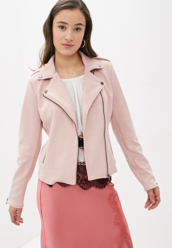 женская куртка vila, розовая