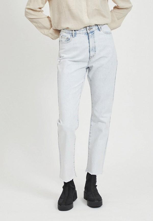 женские джинсы vila, голубые