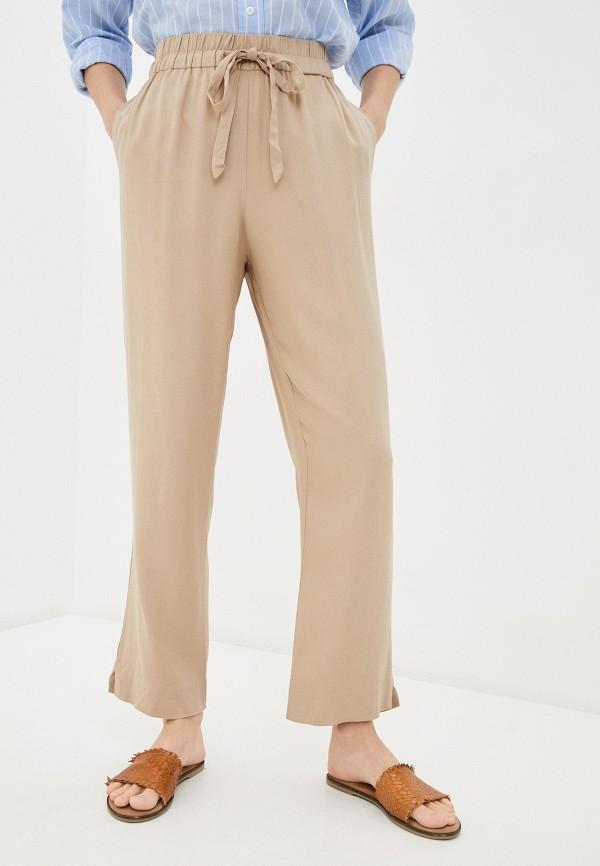 женские брюки vila, бежевые