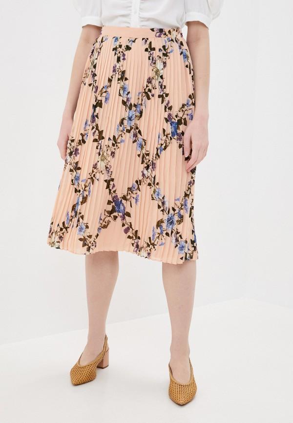 женская юбка vila, розовая