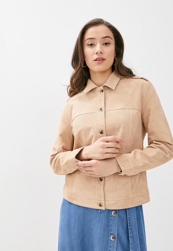 женская куртка vila, бежевая