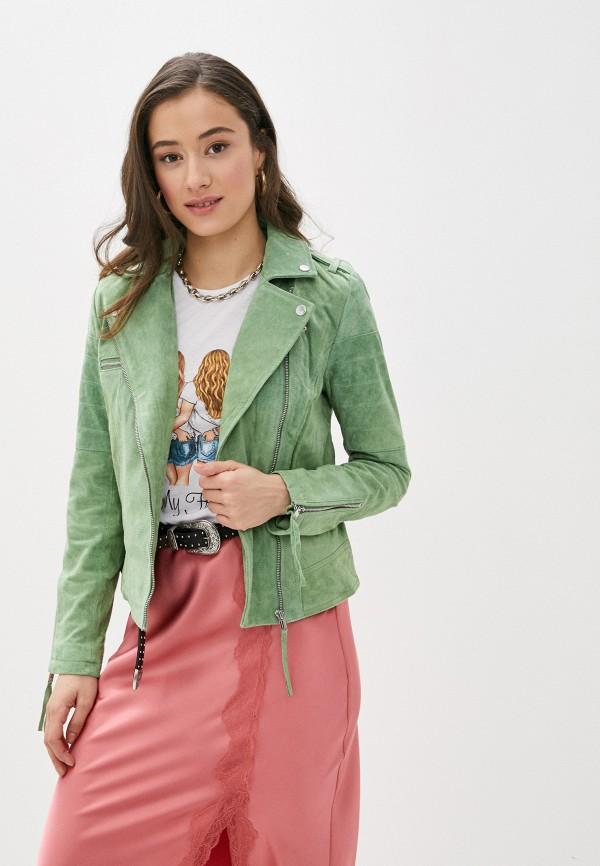 женская куртка vila, зеленая