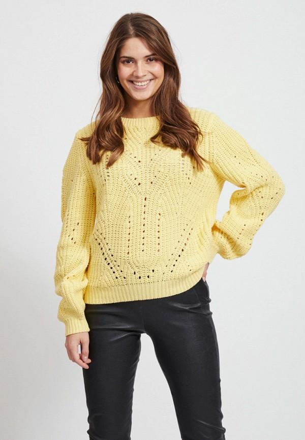 женский джемпер vila, желтый