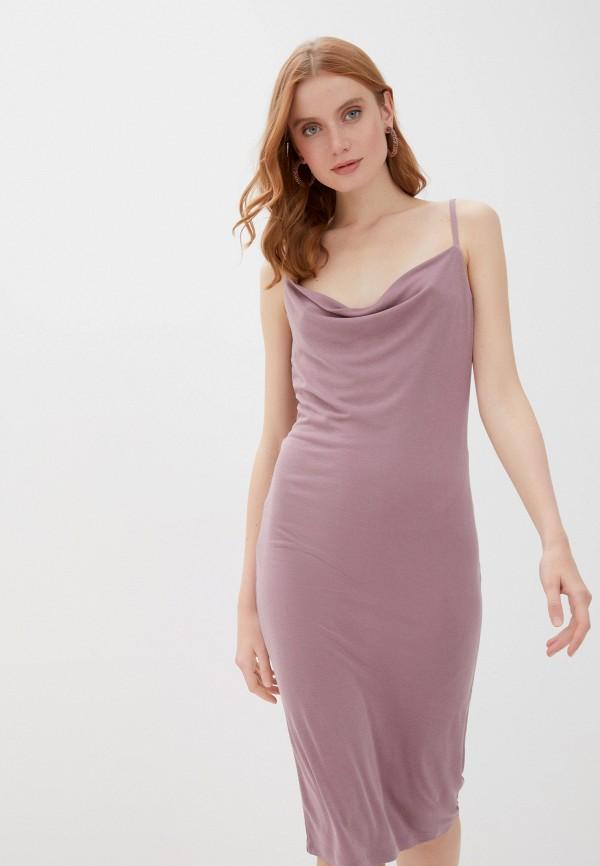женское платье vila, фиолетовое