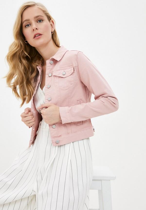 женская джинсовые куртка vila, фиолетовая