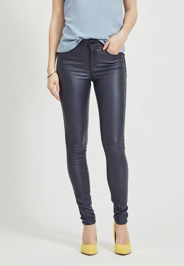 женские повседневные брюки vila, синие