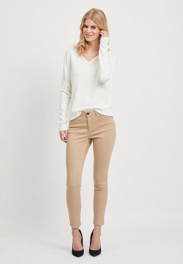 женский пуловер vila, белый