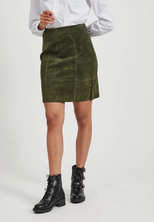 женская юбка vila, хаки