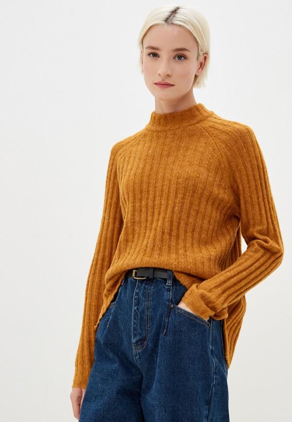 женский джемпер vila, оранжевый