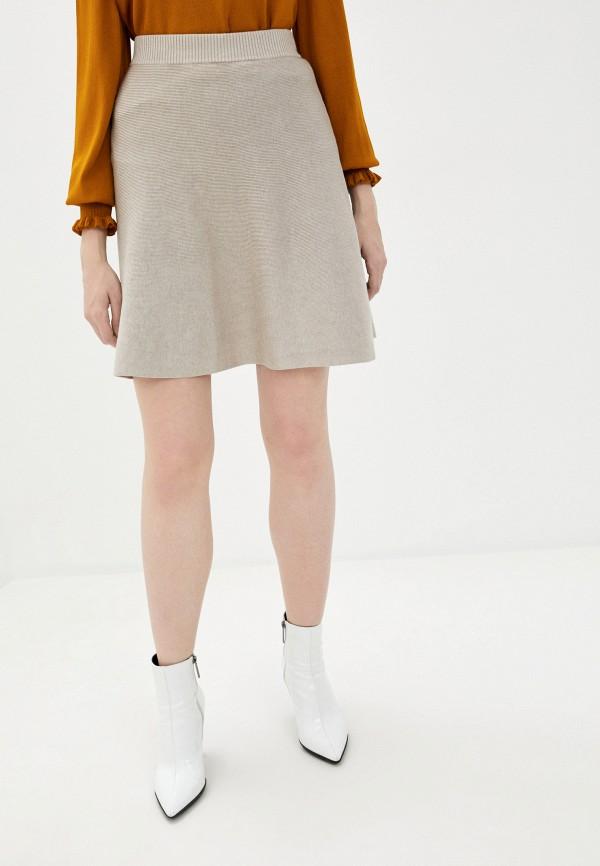 женская юбка vila, бежевая