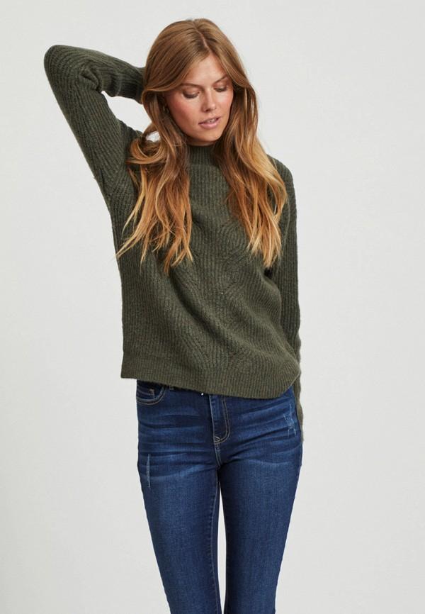 женский свитер vila, хаки