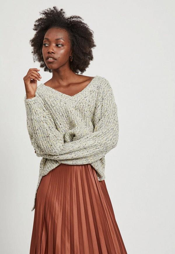 женский пуловер vila, серый