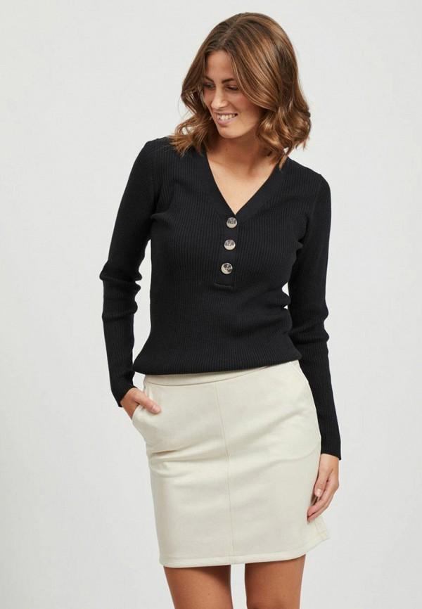 женский пуловер vila, черный