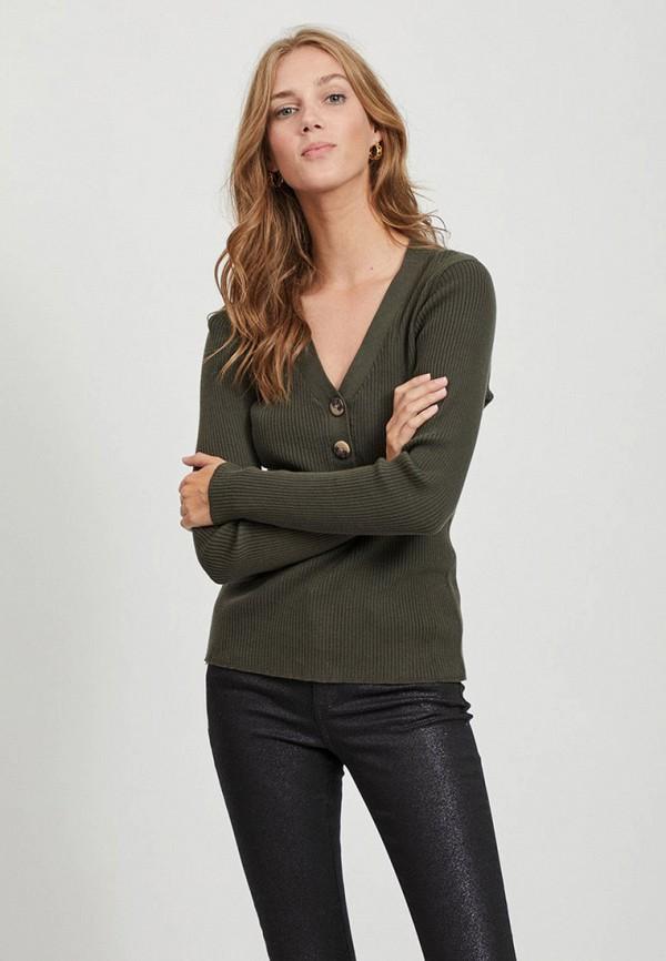 женский пуловер vila, хаки