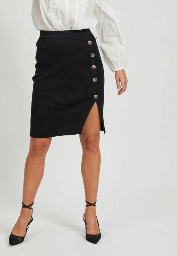 женская зауженные юбка vila, черная