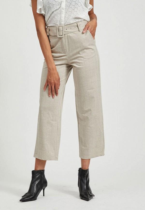 женские повседневные брюки vila, серые