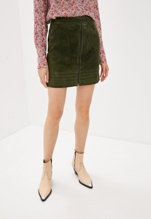 женская юбка vila, зеленая