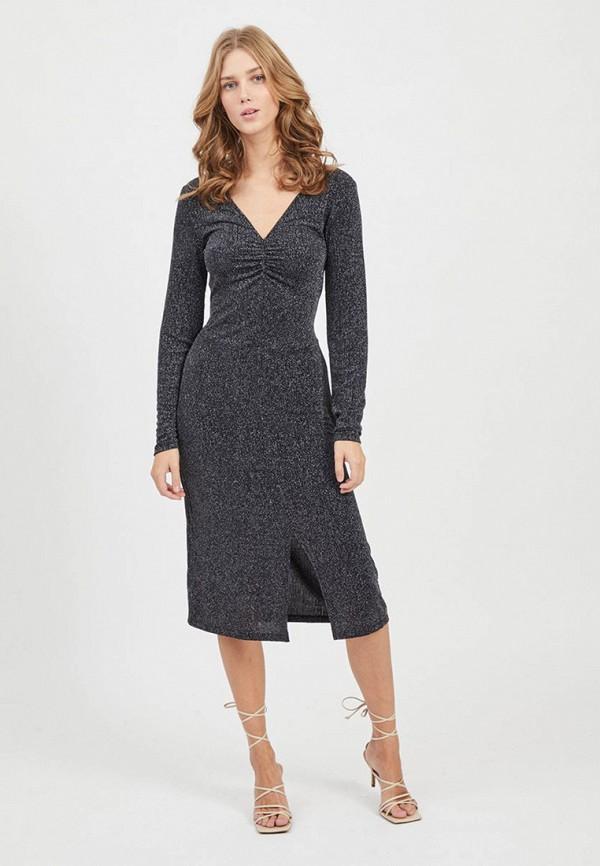 женское платье-футляр vila, серое