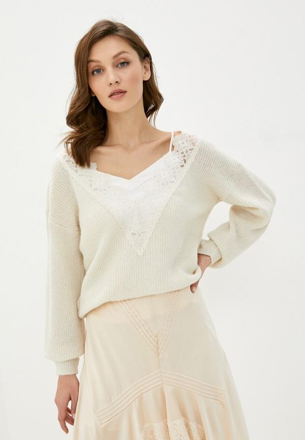 женский пуловер vila, бежевый