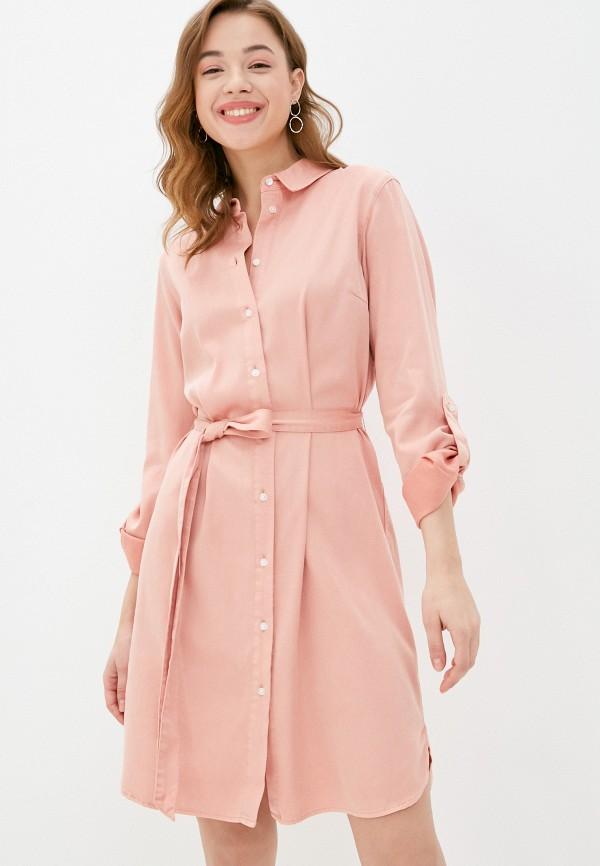 женское платье vila, розовое
